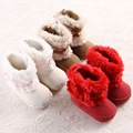 Fashion Baby Snow Boots 2016 Winter Thicker Plush Baby Shoes Soft Soled Infant Toddler Shoes Indoor Keep Warm Baby Boots 1126