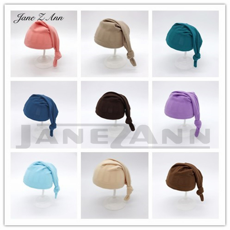 Jane Z Ann Newborn Photography Accessories Baby Sleeping Knot Hat Soft Comfortable Baby Photo Props Infant Shooting Outfits(China)