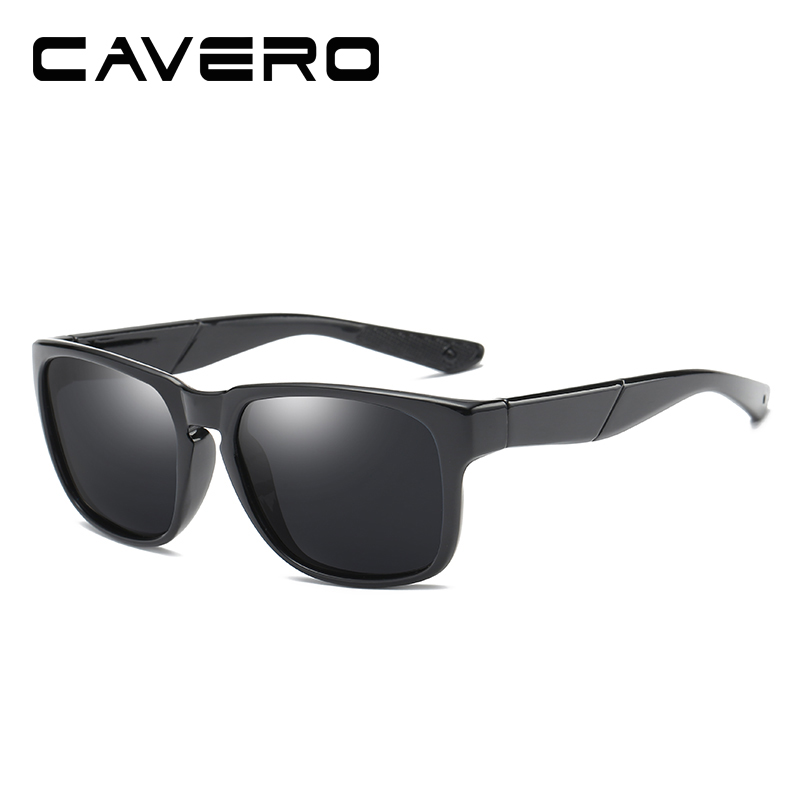 Cavero Brand Classic Polarized Sunglasses Men Driving Square Zwart - Kledingaccessoires - Foto 3
