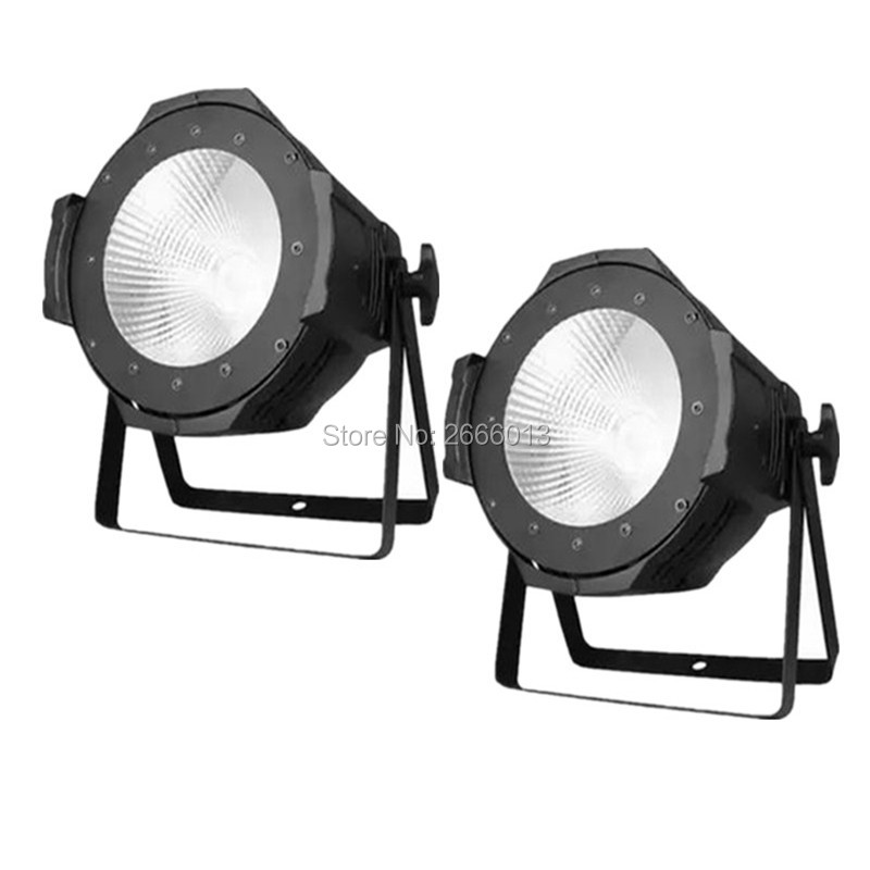 2pcs/lot Aluminium Case 100W COB LED Par Light With Cool White And Warm White Effect Strobe DMX LED Stage Lighting 2pcs lot 2 eyes 2x100w led cob light dmx512 stage lighting effect warm white and cold white 200w led blinder light fast shipping