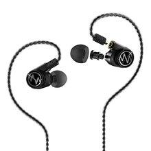 Ara GT600S podwójny sterownik słuchawki hybrydowe DJ Monitor profesjonalne słuchawki słuchawki z redukcją szumów odpinany kabel Mmcx