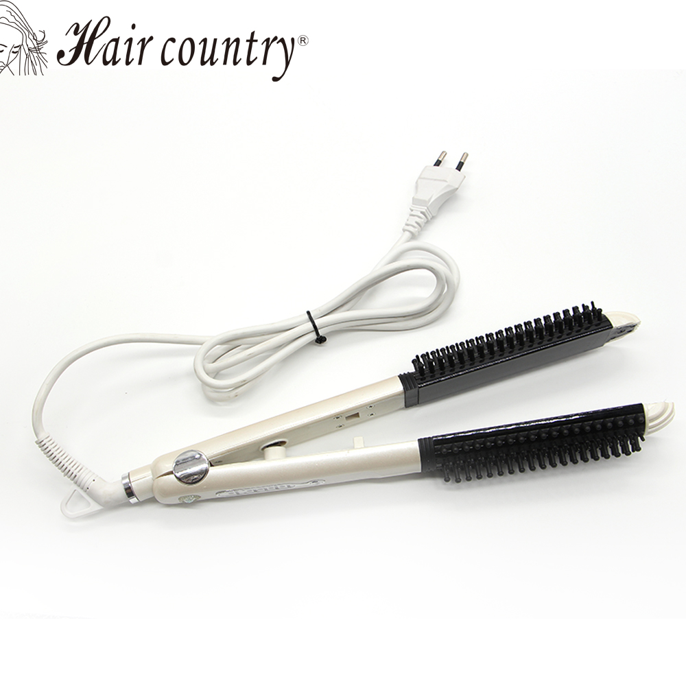 Flat Iron Plancha Pelo Profesional Hair Straightener Comb Straightening Irons Brush Electronic Corrugated Curling Styling Tools styling tools hair straightener 3in1 chapinha fashion straightening irons flat iron curling iron plancha pelo remington
