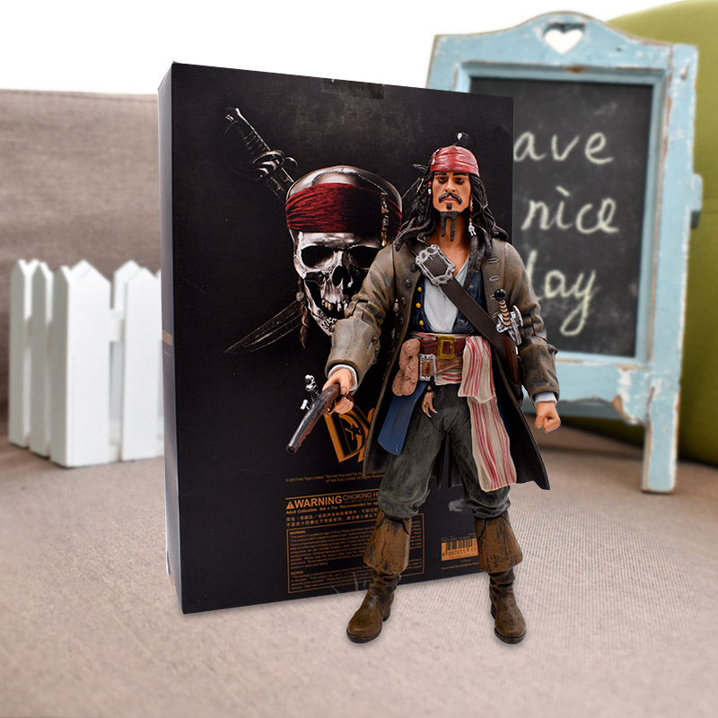 12''30cm Pirates of the Caribbean Jack Sparrow Action Figures Toy PVC Movie&TV Models Doll Gift For Children Free Shipping 1 6 pirates of the caribbean angelica headsculpt for diy 12inch doll parts