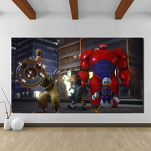 kingdom Hearts 3 Big Hero 6 Canvas Painting Print Living Room Home Decor Modern Wall Art Poster Salon Pictures Framwork
