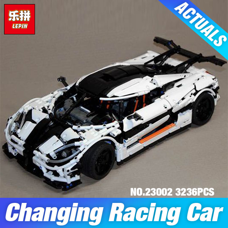 3236Pcs Lepin 23002 Technic Series The MOC-4789 Changing Racing Car Set Children Educational Building Blocks Bricks Toys Model lepin 02020 965pcs city series the new police station set children educational building blocks bricks toys model for gift 60141