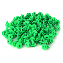 100Pcs Car Door Panel Trim Clips Fasteners 8mm Dia Hole Fender Bumper Retainer Plastic Rivet For Chrysler WJ Jeep Grand Cherokee