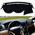 Black Dash Mat Dash Cover Mat Dashboard Cover For Hyundai for Sonata 2011 2012 2013
