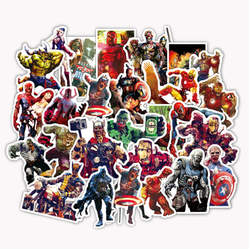 36Pcs/Lot Zombie SuperHero Sticker Funny styles For Car Laptop Pad Luggage Skateboard Bicycle Decal - discount item  13% OFF Classic Toys