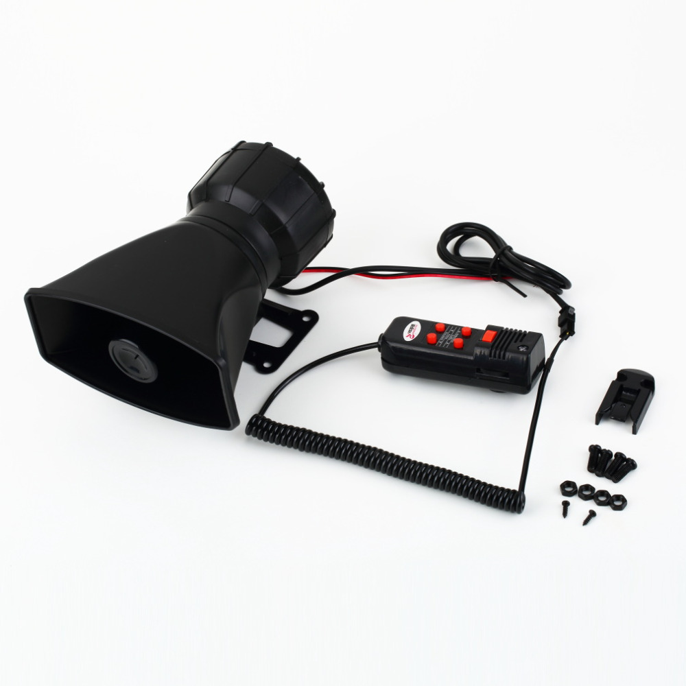 New Van Truck PA System 60W Loud Horn 12V Car Siren Auto Max 300dB 5 Sounds tone Auto Speaker Alarm New Dropping Shipping