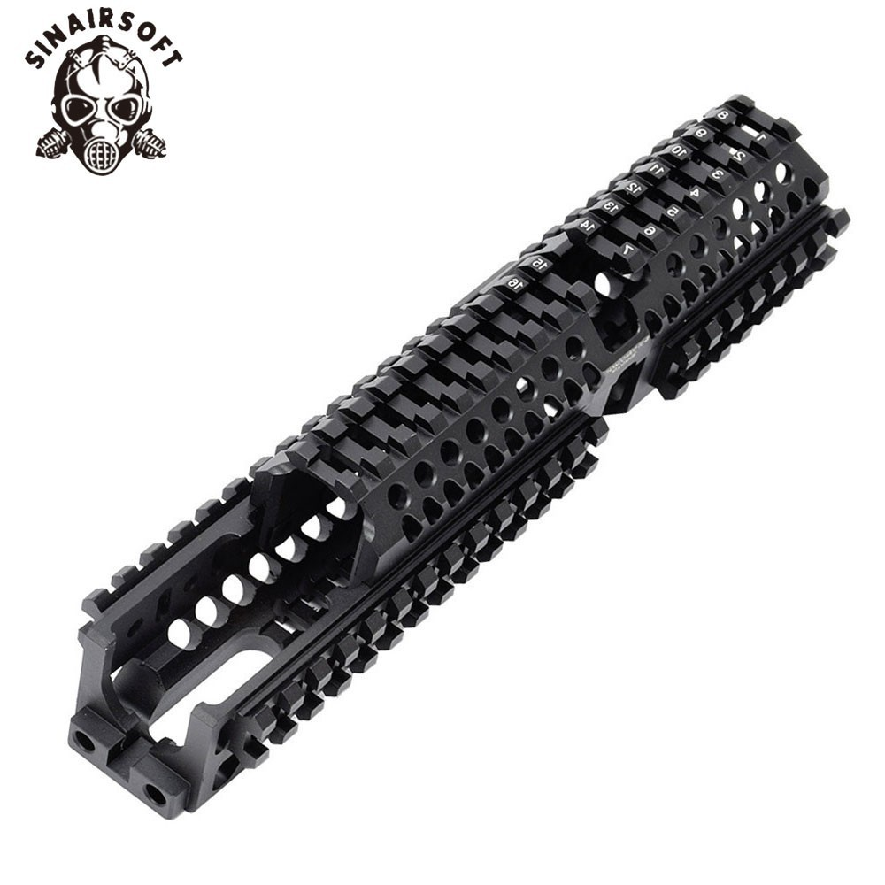 Ak 47 tactical quad ferroviário picatinny handguard sistema cnc alumínio comprimento total tático para ak aeg/gbb rifles b30 b31