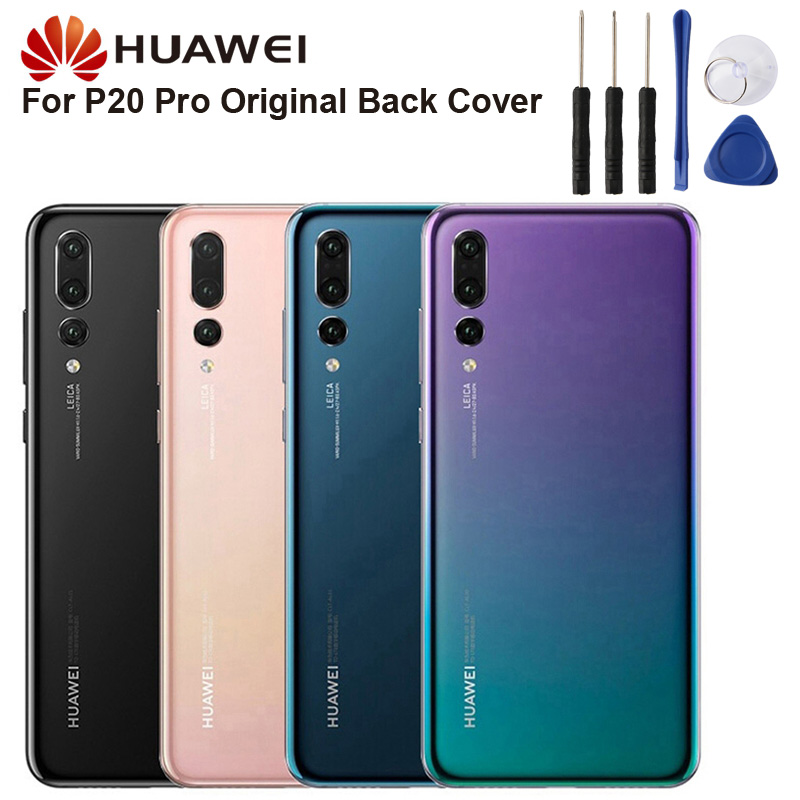 Original Glass Battery Rear Case For Huawei P20 Pro Back Battery Cover Phone Battery Backshell Back Cover Cases in Half wrapped Cases from Cellphones Telecommunications