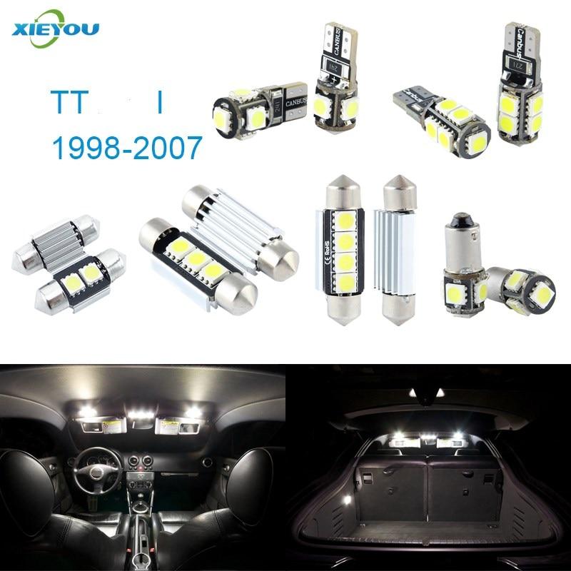 XIEYOU 8 stücke LED Canbus Innenbeleuchtung Kit Paket Für TT I - Auto Lichter