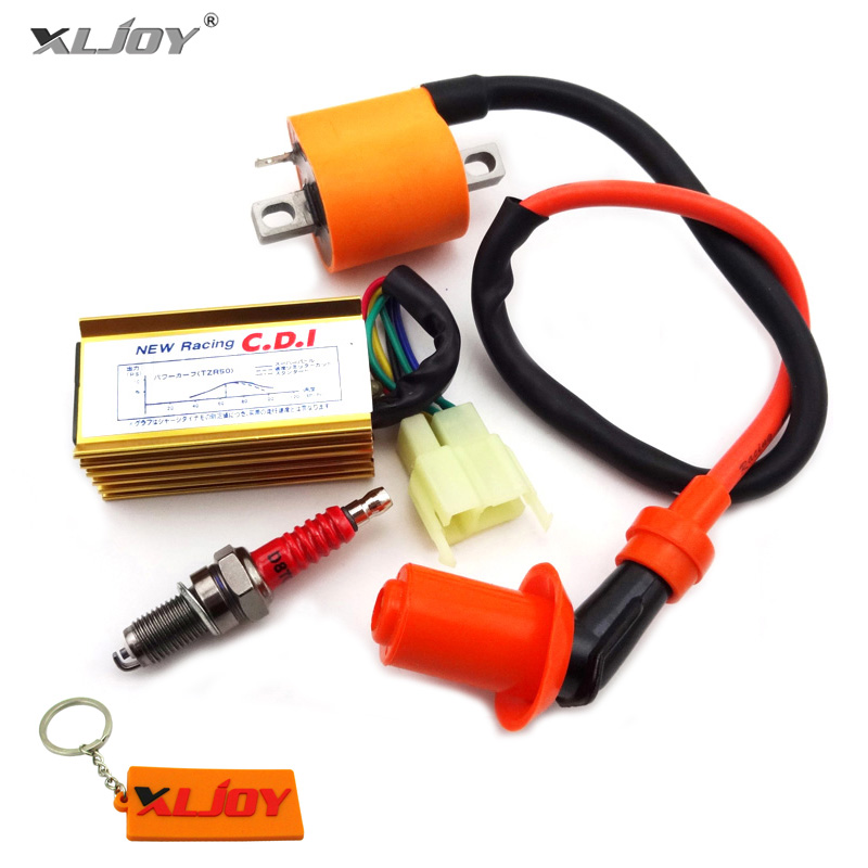 XLJOY Racing Ignition Coil + 6 Pin AC CDI + D8TC Spark Plug For 150cc 200cc 250cc Dirt Motor Bike ATV Quad Motorcycle