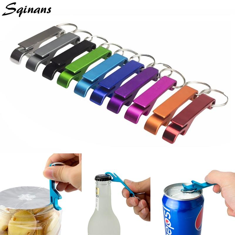 Sqinans 4 In 1 Beer Bottle Opener Keychain 4 In 1 Pocket Aluminum Beer Bottle Opener Wedding Favors And Gifts