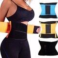 Mujeres hombres cinturón entrenador entrenamiento de la cintura cincher faja slimming body shapers tummy control de pérdida de peso de la talladora del corsé estómago
