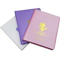 120色ネイルアートジェルポリッシュディスプレイカードブック象眼爪サロンジェルポリッシュ色示すボードチャート紫/ホワイト/ピン