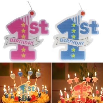 Zaopatrzenie imprezy 1 Formowana konstrukcja świeczki urodzinowe dekoracja na wierzch tortu Baby Candle zaopatrzenie firm tanie i dobre opinie Art świeca Other Urodziny Ogólne świeca Parafina X7YD