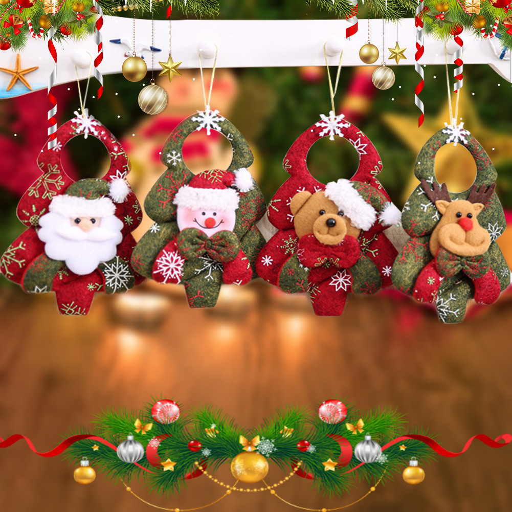 2017 Hot Sale Santa Claus Christmas Decoration Xmas Trees Pendants Ornaments Xmas Tree Hanging Ornaments Pendant Kids Best Gift
