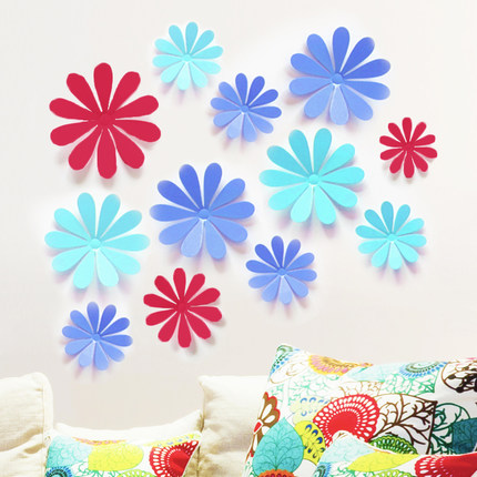 Birthday Decoration 3D snowflake butterfly dragonfly DIY Wall