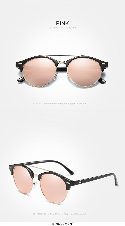 17 KINGSEVEN Retro Rivet Polarized Sunglasses Women Classic Brand Designer Sun glasses Eyewear Bridge Frame Oculos Gafas N7346 10
