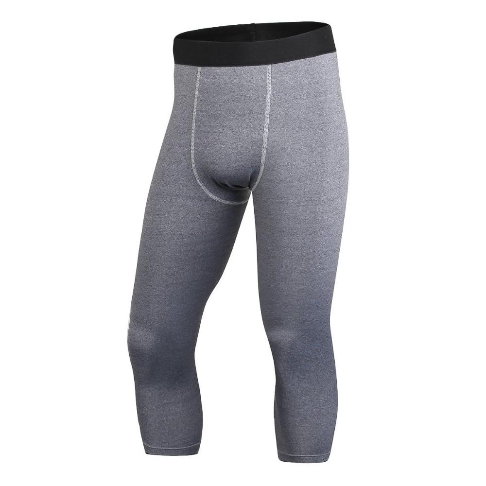 Pantalones de compresión de alta elasticidad hasta la pantorrilla - Ropa de hombre