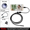 Android USB Endoscope 6 LED 7mm Lens Waterproof Inspection Borescope Tube Camera With 1m Cable Mirror