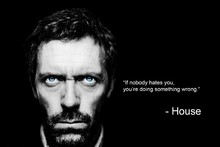 House MD Inspirational Quote Silk Fabric Poster