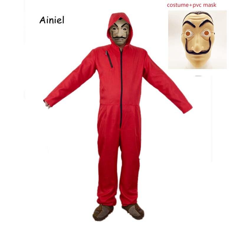 Ainiel Salvador Dali Cosplay Costume Kids Adult La Casa De Papel Face Fancy Party Halloween Costume Mask for Adult Women and Men
