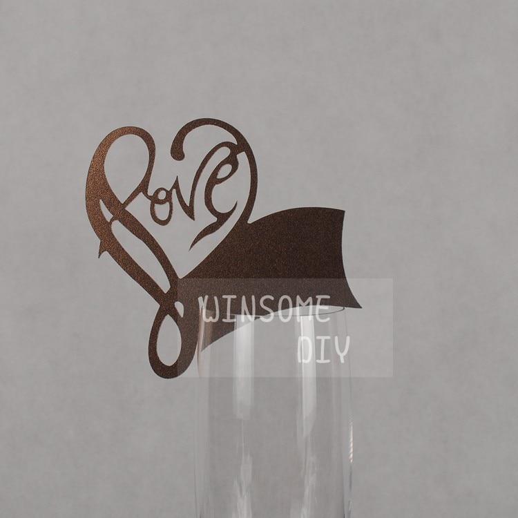 Partydekorationen Liebe Kaffee Glas Marker Wedding Braut