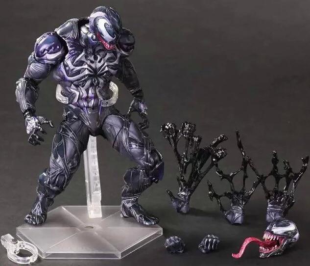 Spider Man Action Figure Venom Spider Collection Model PLAY ARTS Spider-Man Venom PVC Action Figure Play Arts Kai Venom Toy пластилин spider man 10 цветов