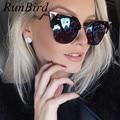 2017 cat eye sunglasses gafas de sol de la vendimia para las mujeres diseño templo gafas de sol de las mujeres gafas de sol gafas de metal doblado 115r