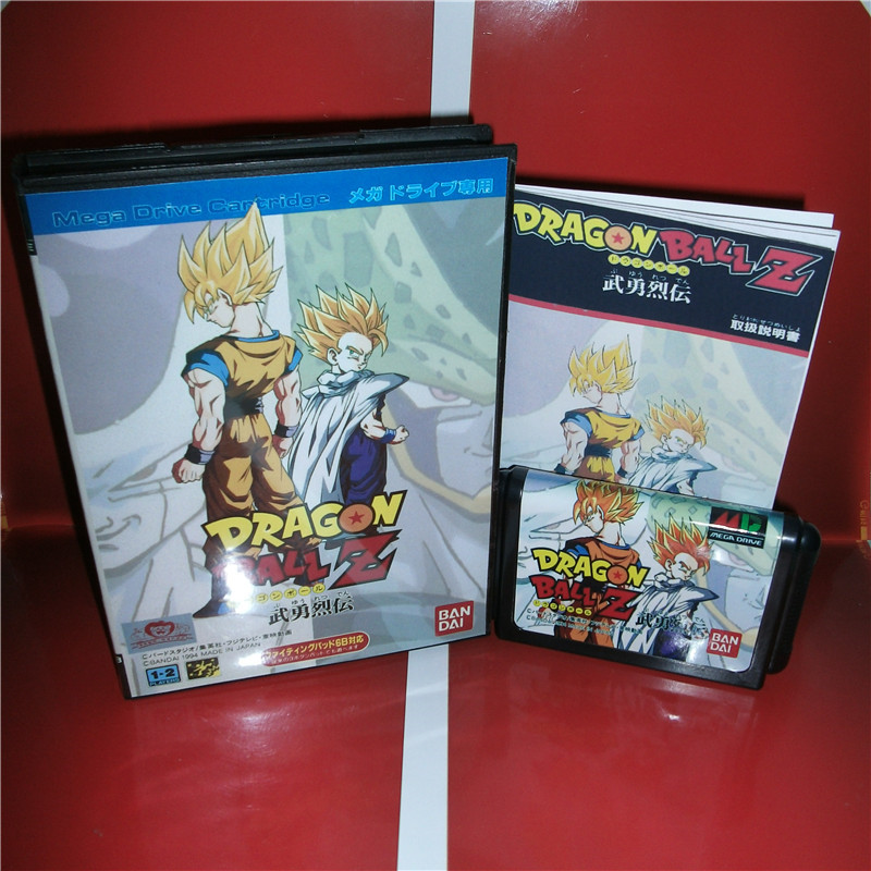 MD games card - Dragon Ball Z-Buyuu Retsuden Japan Cover with Box and Manual for MD MegaDrive Video Game Console 16 bit MD card sinder 2 16 md sega megadrive 16 bit game card