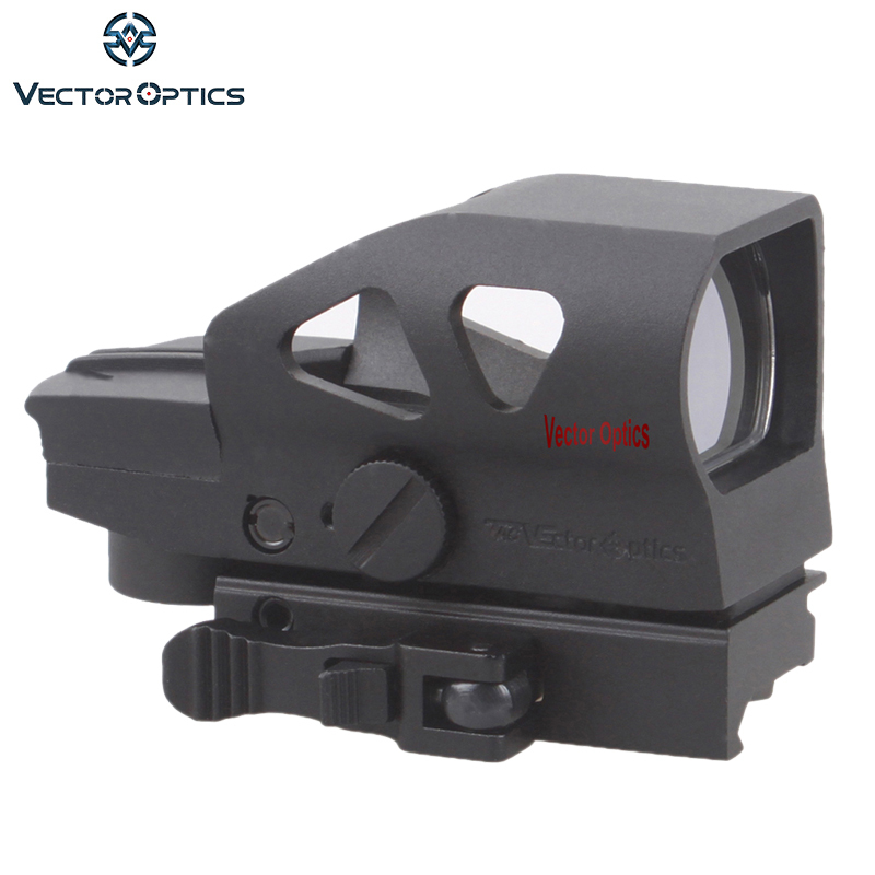 Vector Optics Ratchet 1x23x34 Red Green Dot Scope 4 Reticle Sight With QD Picatinny Mount For AK 5.56mm AR15 .223 12 GA