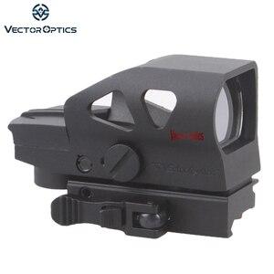 Vektör optik cırcır 1x23x34 kırmızı yeşil nokta kapsam 4 Reticle QD Picatinny dağı ile için AK 5.56mm AR15 .223 12 GA