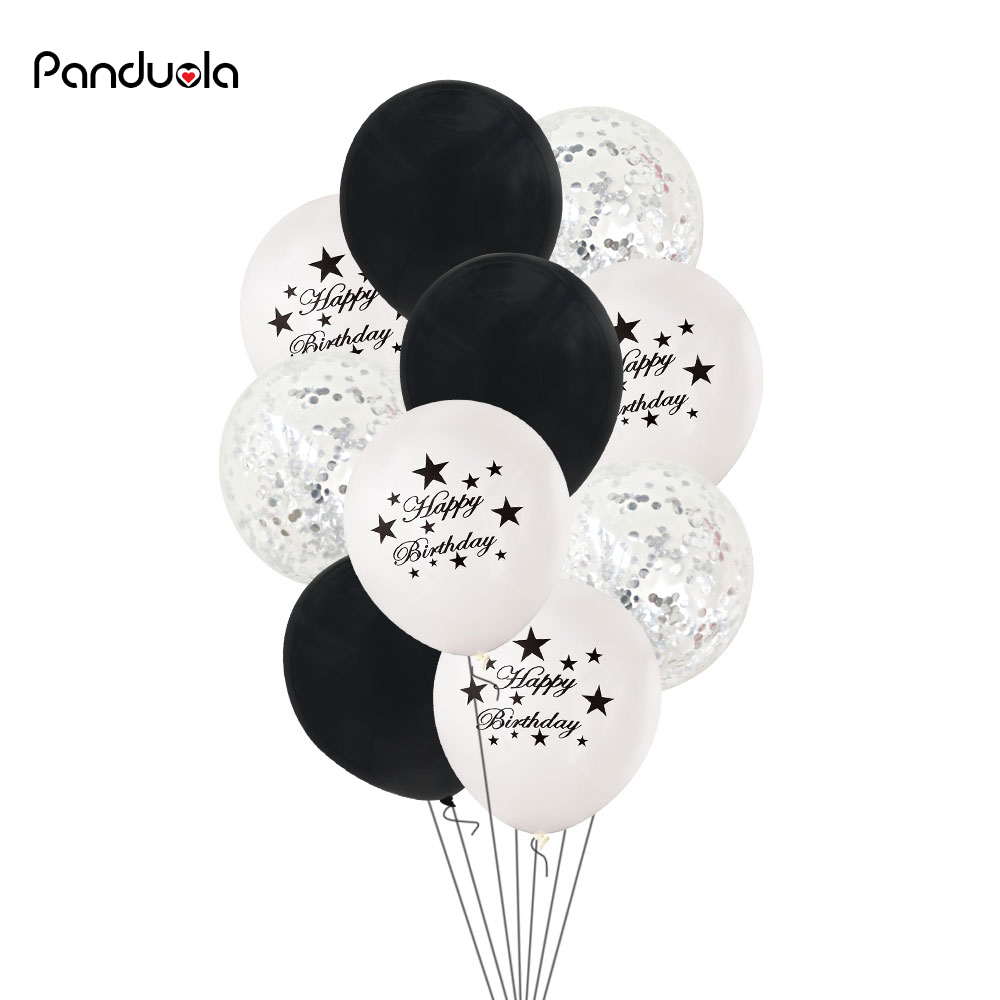 Black And White Birthday Decorations Balloons Everything For The New Year Decoration Wedding Star Balloon In Ballons Accessories From