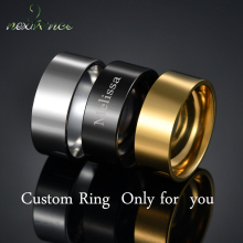Finger-Rings Engrave Stainless-Steel Personalized Gift Custom Nextvance Friend for Lover