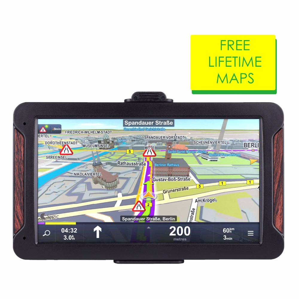 710 Oriana 7inch HD Car GPS Navigation FM 8G 256MB Or 128MB Latest Europe Map Resistive Or Capacitive Truck Gps Navigators(China)