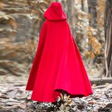 Зимнее шерстяное пальто для женщин, винтажный плащ в стиле ретро, длинное пальто с капюшоном, куртка