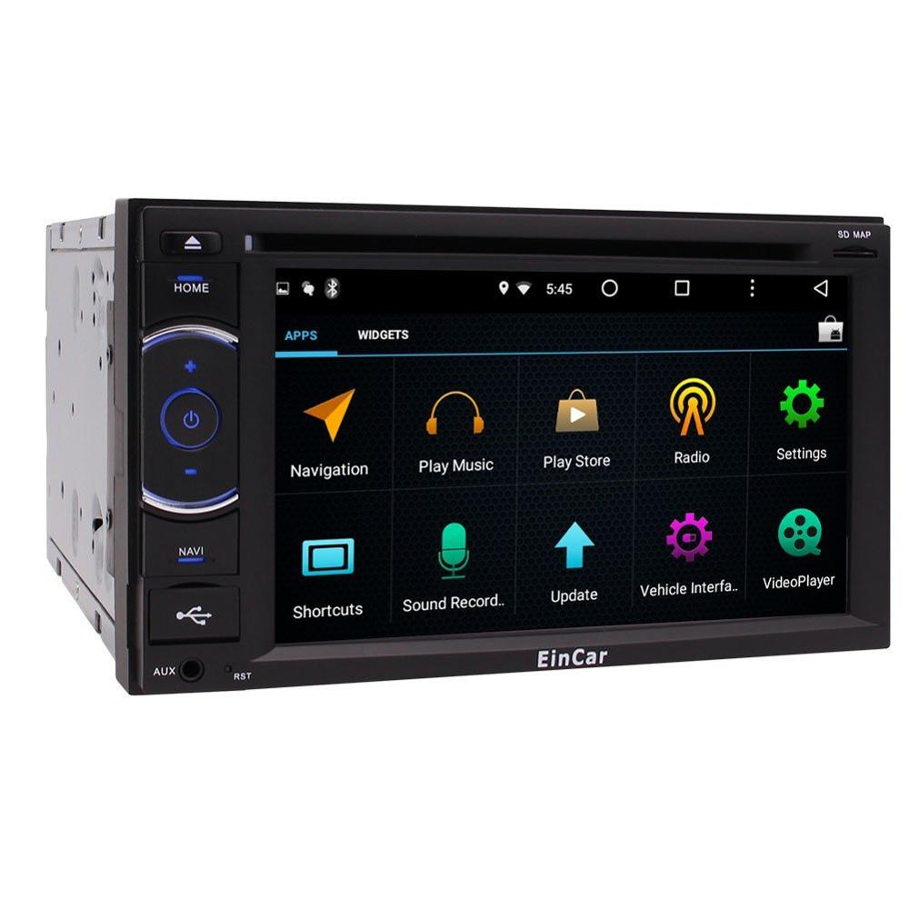 2 Din Car Stereo with A7 Android 5.1 Bluetooth GPS Navigation Car Deck Head Unit USBSD Multi-media Capacitive screen SWC Backup