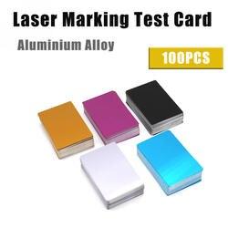 Алюминиевый сплав лазерная маркировочная машина Тесты карты Бизнес визитки 100 шт./лот листового металла Тесты ing Материал Бесплатная