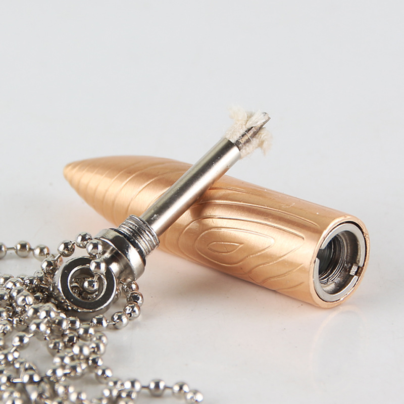 Bullet Shaped Permanent Match Lighter and Metal Fire Starter in Chain Pendant Design 4
