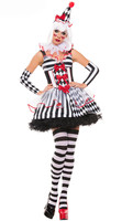 Harley Quinn Costume For Women Sexy Clown Dress Halloween Cosplay Party Performance Clown Costume Adult