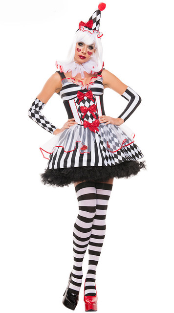 Sexy scary clown costume