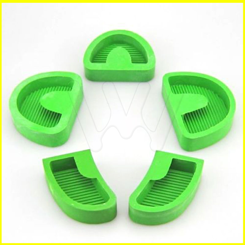 5 pcs set laboratorio dental ex modelo base de moldes de gesso de borracha de silicone