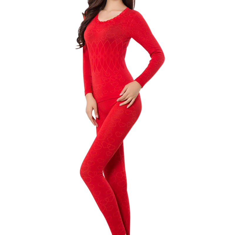 Winter Thermal Underwears Women Fashion Seamless Breathable Warm Long Johns Ladies Slim Underwears Sets Bottoming