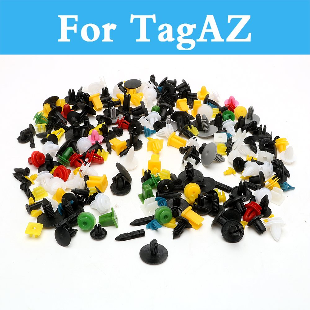 200pcs Car Plastic Cable Mount Clamp Clips Auto Fastener Mixed Wire Tie For Tagaz C10 C190 C-30 Road Partner Tager Vega Aquila