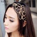 2016 nueva moda de aleación de las vendas para mujeres elásticos del pelo accesorios de la joyería de la cadena