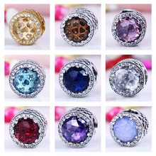 New Arrival 2017 Spring Beads Charms Fits TINSO Bracelets 100% 925 Sterling Silver Cubic Zirconia DIY Beads for Jewelry Making
