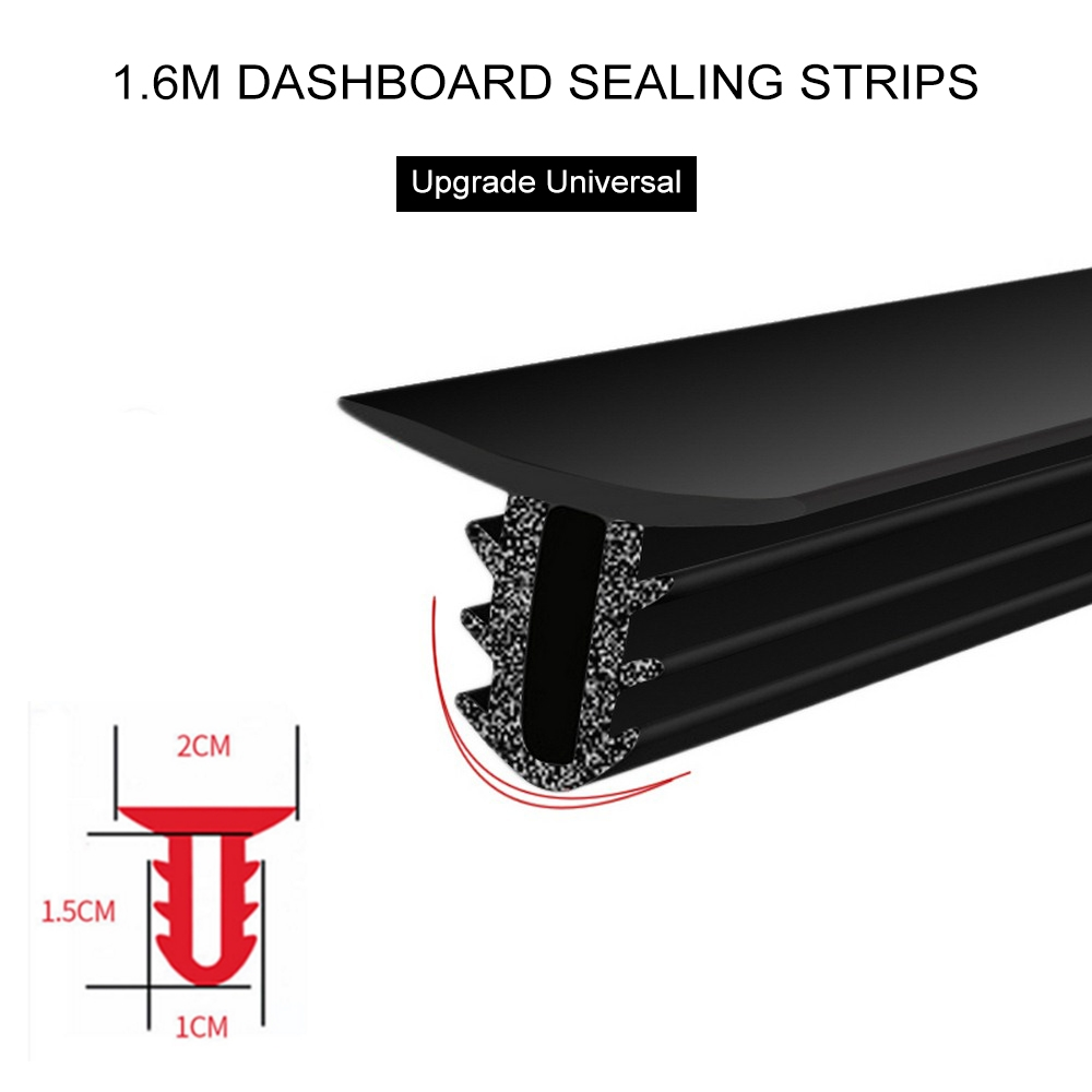 1 6M U Type Car Dashboard Sealing Strips Rubber Sound Insulation Windshield Edges Gap Sealing Strips Dashboard Trim Strip in Interior Mouldings from Automobiles Motorcycles