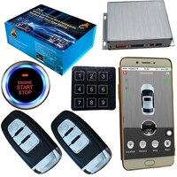 Pke gsm & gps Автомобильная охранная сигнализация с мобильным приложением управление паролями без ключа аварийный вход двери автомобиля автома